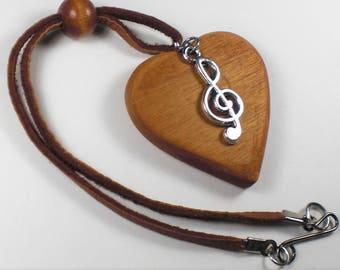 Rear View Mirror Heart-Musical Note Charm