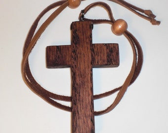 Rear View Mirror Cross-Simple-LG-Red Oak