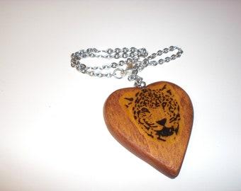 Rear View Mirror Heart-Leopard