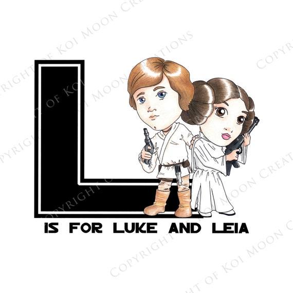 L es para luke y leia star wars abecedario descarga malvernweather Choice Image