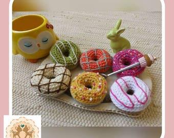 Crochet Donut, Crochet Doughnut, Fake Donut, Fake Doughnut, Children's Play Food, Kids Play Food, Donut, Fake Food, Crochet Food, Play Food