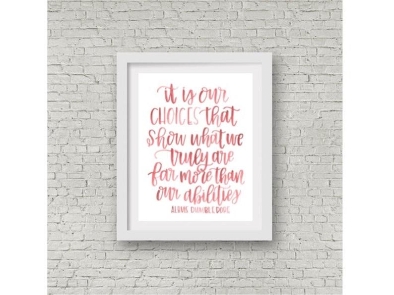 Harry Potter Quote Albus Dumbledore Watercolor Quote Etsy