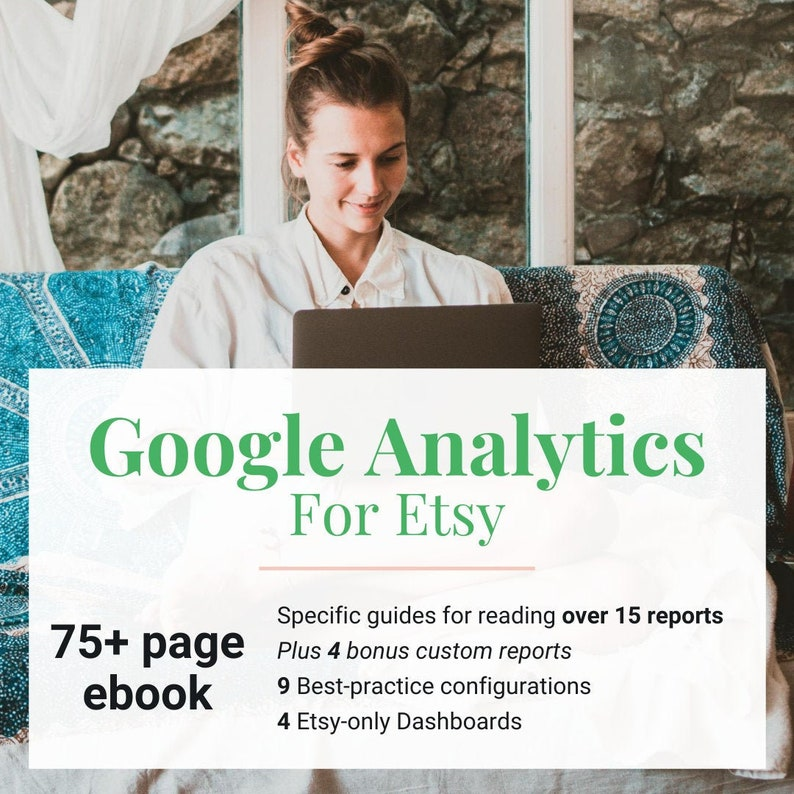 Google Analytics for Etsy Sellers Ebook  Dashboards & Custom image 0