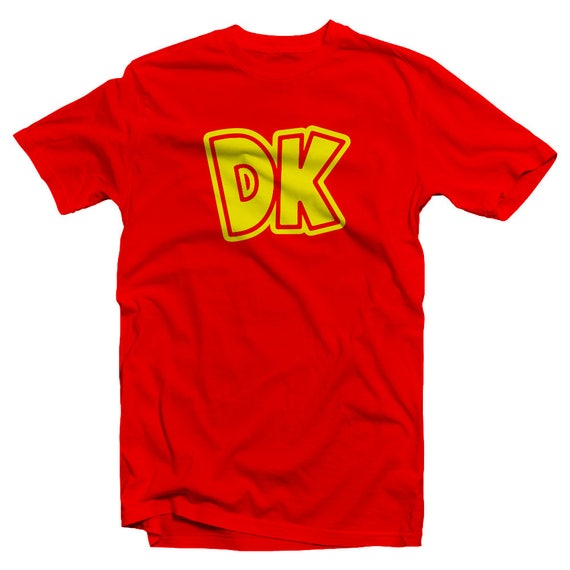 Donkey Kong Initials Logo T-shirt for Kids or Adults
