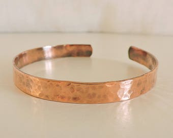 Copper cuff, copper bracelet, textured copper bracelet