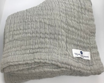 Double thick gauze blanket for baby