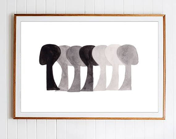 Abstract Art, Black White Prints, Black White Wall Art, Art, Modern Wall Art, Wall Art, Prints, Minimalist  ,Watercolor Print, Art Print,