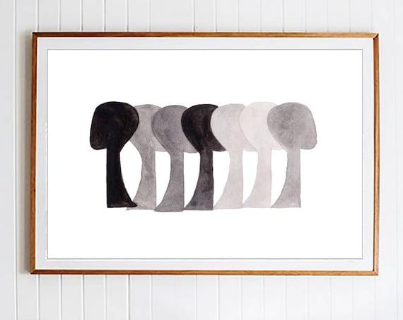 Abstract Art, Black White Prints, Black White Wall Art, Art, Modern Wall Art, Wall Art, Prints, Minimalist  ,Watercolor Print, Art Print,