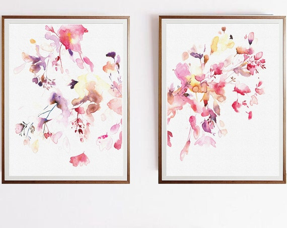 Set of 2 Prints, Set of 2 Wall art, Set of 2, Wall Art, Watercolor Art, Modern Art, Abstract Art, Watercolor, Prints, Wall Art, Prints Art