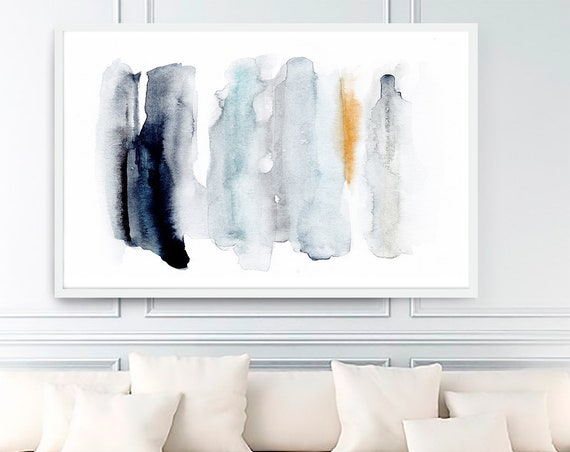 Abstract Art Printable, Abstract Art, Abstract Print, Blue Abstract Art, Modern Art , Contemporary Art, Watercolor Print, Minimalist Art