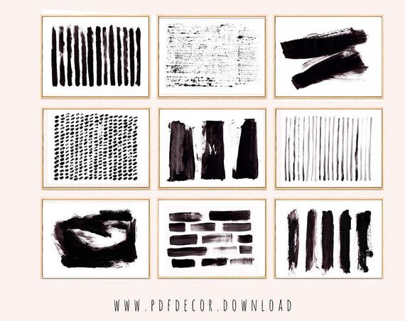 Set of 9 Prints, Abstract Prints, Set of 9 wall art, Black White Art, Abstract Wall Art, Abstract Art, Set of 9 Art, Set of 9 Abstract, Art