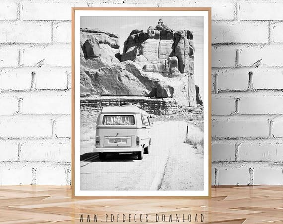 Travel Poster, Travel wall art, Black White Photo, Black White Wall Art, Camper, Wall Art, Prints, Modern Art, Teen Room Decor, Art, Rocks