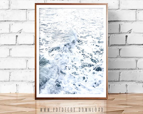 Ocean Print, Ocean Wall art, Water Print, Art Prints, Ocean Art, Aerial Beach Photo, Sea, Coastal  Decor, Coastal  Wall Art, Beach Print