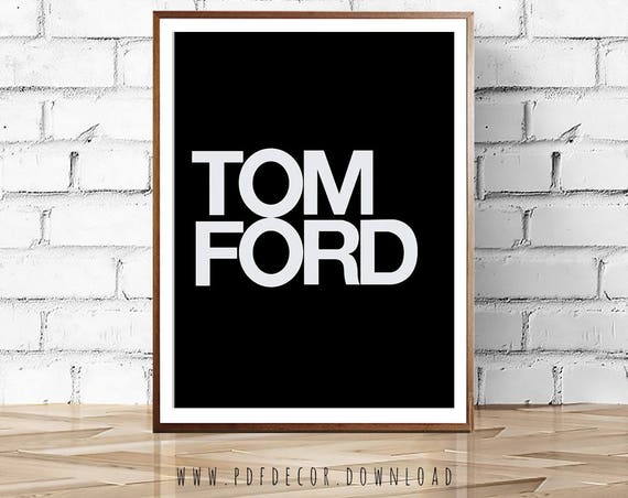 Fashion Wall Art, Tom Ford Print, Fashion poster, Fashion Logo, Wall Art, Art, Fashion prints, Modern Art, Black and White Prints, Prints