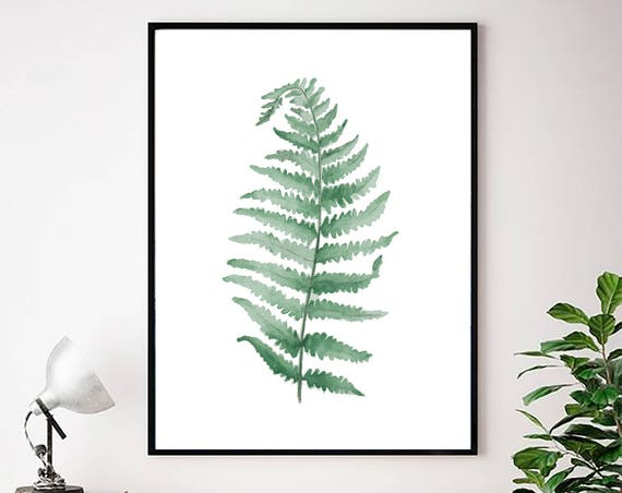 Tropical Leaves Print, Tropical Wall Art, Green Leaf Print, Modern art, Modern Minimal Print, Scandinavian Wall Art, Art Prints, Wall Art
