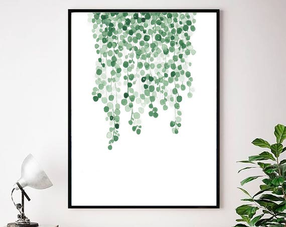 Leaf Wall Art, Botanical Print, Greenery Print, Modern art, Modern Minimal , Scandinavian Decor, Art Prints, Wall Art, Tropical Leaf, Prints