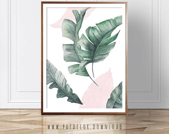 Palm Leaf Print, Palm leaves, Wall Art, Modern Decor, Modern Wall Art, Leaves Print, Fashion Poster, Modern Art, Art, Digital Prints, Prints