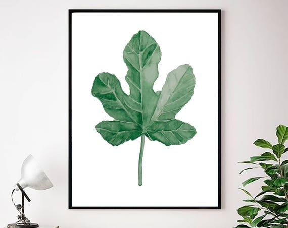 Watercolor Leaves Print, Botanical wall Art, Greenery Print, Modern art, Modern Minimal Print, Scandinavian Wall Art, Art Prints, Wall Art
