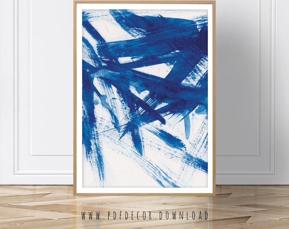 Blue Abstract Print, Abstract print, Modern Art, Modern print, Abstract Art, Instant Download, Blue Print, Abstract Wall Art, Blue Decor