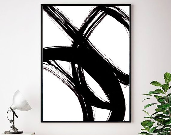 Abstract Wall art, Abstract Print, Black White Abstract Print, Black White Art, Minimalist Print, Abstract Art, Modern Art, Scandinavian Art