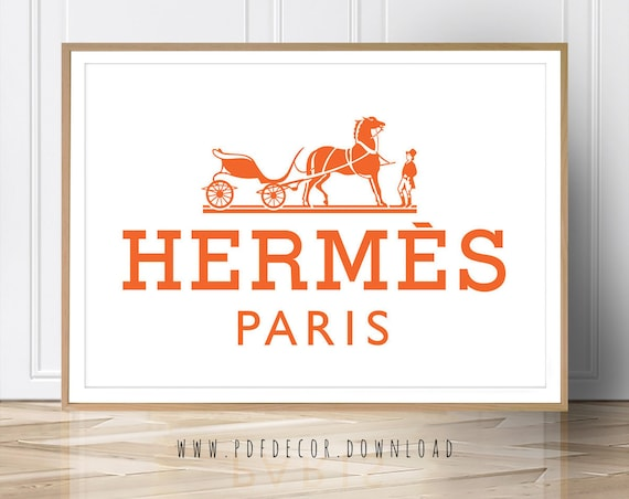 Hermes Logo Art, Hermes, Art Prints, Art, Fashion Print, Fashion Poster, Print, Hermes Paris, Hermes Print, Fashion Poster, Hermes Photo