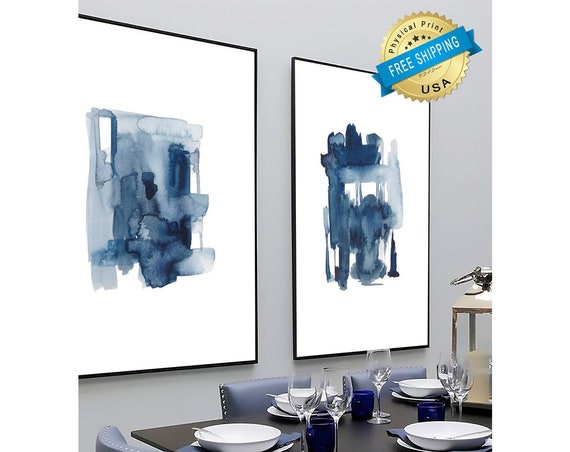 Set of 2 blue prints, Set of 2 prints, Set of 2 Wall Art, Set of 2, Abstract Art, Minimalist Prints, Set of 2 Abstract Prints, Prints