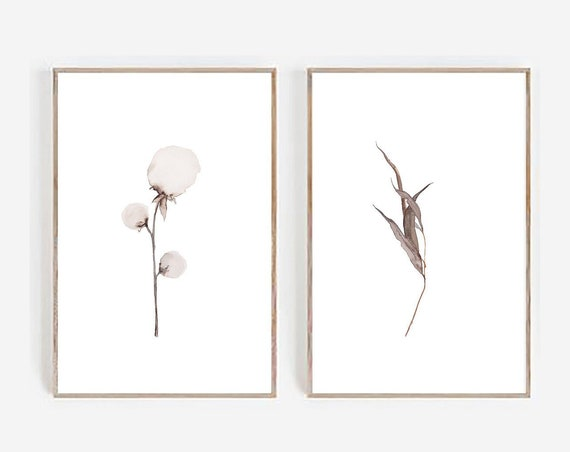 Set of 2 Prints, Farmhouse Print, Minimalist Print, Minimalist Wall art, Set of 2 Wall art, Farmhouse Decor, Cotton Print, Art Prints, Print