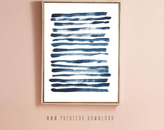 Indigo Blue Art Print, Blue Wall Art, Minimalist Art, Modern Art, Art Prints, Instant Download, Blue Decor, Abstract Wall Art, Prints, Art