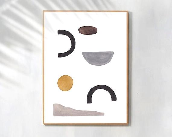Minimalist Art, Abstract Print, Geometric Wall art, Geometric Poster, Minimalist Poster, Home Decor, Art Prints, Digital Prints, Large Print