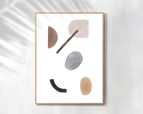 Modern Minimalist art, Minimalist Print, Geometric Poster, Abstract Prints, Abstract wall art, Home Decor, Large Poster, Art Printable, Art