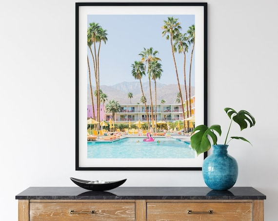 California Photo,Palm Tree, Saguaro Hotel, Palm Springs, Palm Springs Photo, Digital Print, Art, Wall art, Prints, Tropical,Travel Prints