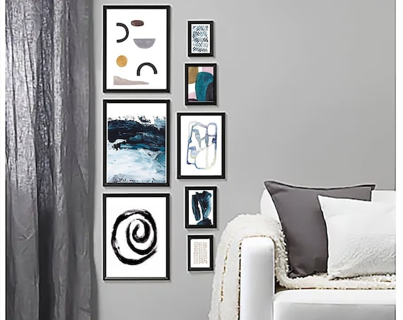 Set of 8 Prints, Abstract Prints, Set of 8 wall art, Black White Art, Abstract Wall Art, Abstract Art, Set of 8 Art, Set of 8 Abstract, Art