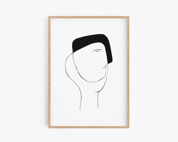 Black White Modern Art, Art, Minimalist print, Abstract art, Minimalist Art, Printable Art, Black White Print, Abstract Print, Modern Decor