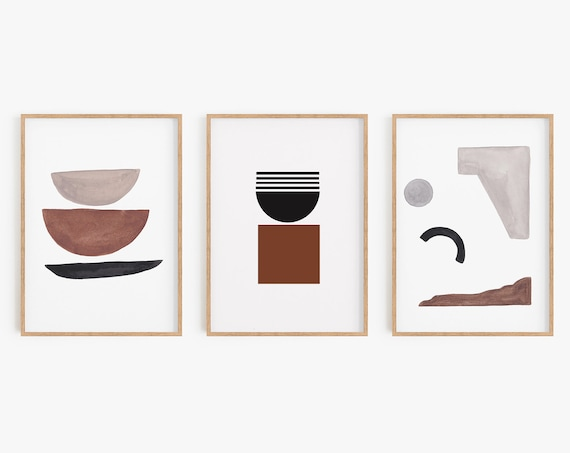 Set of 3 Prints,Geometric Prints,Boho Prints,Natural Colors, Minimalist Wall art,Line Art,Beige Prints,Boho Decor,Abstract ,Geometric Poster
