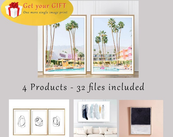 A Bundle of 4 Products and a GIFT, Set of 3,Set of 2,Saguaro Hotel Print,Set of Prints,Bestseller,Set of prints,DigitalPrints,Set of 4,Print