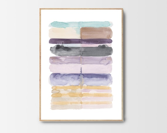 Pastel Print, Pastel Wall Art, Contemporary Art, Abstract Prints, Abstract Art, Watercolor, Pastel Decor, Digital Download, Modern Art, Art