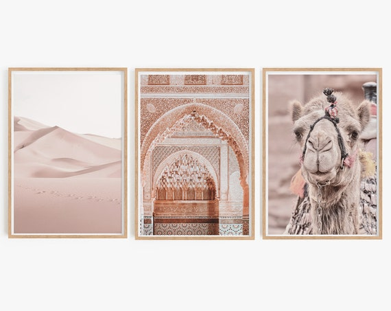 Set of 3 Moroccan Prints,Set of 3 prints,Moroccan decor,Set of 3 Wall art,Boho Decor ,Bohemian , Morocco Poster, Wall art,Home Decor,Prints