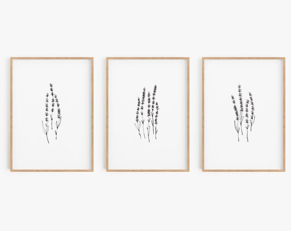 Set of 3 Prints,Lavender prints,Black and White Prints,Minimalist Print,Minimalist Wall Art,Large Wall Art,Prints Set,Prints,Wall Art,Prints