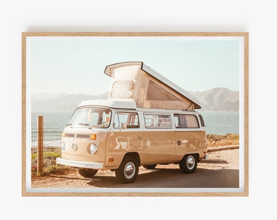 California Photo,Van, Beach, Palm Springs, Van Photo, Digital Print, Art, Wall art, Prints, Tropical,Travel Prints