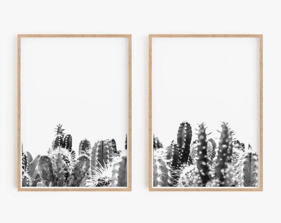 Set of 2 Prints Wall Art Prints Set of 2 Art Prints Printable Wall Art Cacti Print Rosemary Print, Instant Download, Large Wall Art