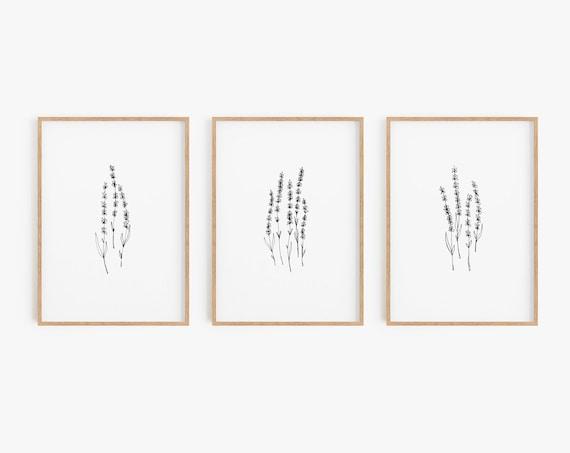 Set of 3 Prints,Lavender prints,Black and White Prints,Minimalist Print,Minimalist Wall Art,Large Wall Art,Prints Set,Prints,Wall Art,Prints