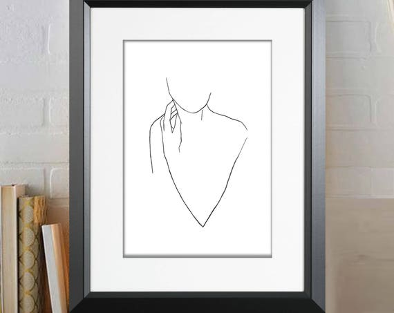 Silhouette Poster, Silhouette Print, Wall Art, Modern Minimalist Art, Graphic Art, Art Print, Minimalist Art, Contemporary Art, Abstract Art