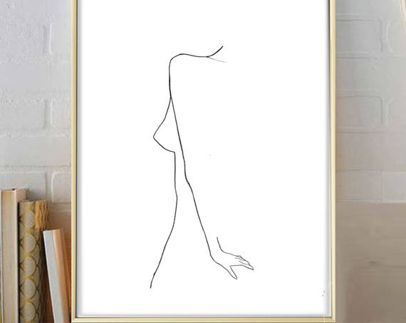 Silhouette Print, Silhouette Wall Art, Minimalist Print, Graphic Print, Modern Minimalist Art, Contemporary Art, Art Prints, Black White Art