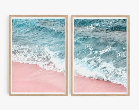 Set of 2 Ocean prints Weave Prints Coastal wall art Coastal Decor Beach prints Sea Photo Set of 2 Prints Home Decor Living Room Beach Decor