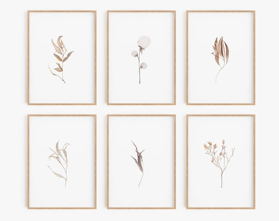 Set of 6 Prints,Digital Prints, Botanical Prints, Botanical Posters, Farmhouse Prints, Farmhouse Wall Art, Farmhouse Decor, Home Decor, Art