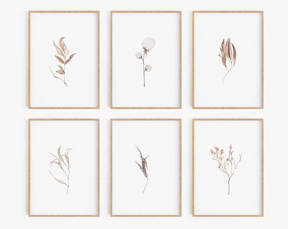 Set of 6 Prints,Digital Prints, Botanical Prints, Botanical Posters, Farmhouse Prints, Farmhouse Wall Art, Farmhouse Decor, Home Decor, Art