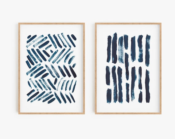 Set of 2 blue prints, Set of 2 prints, Set of 2 Wall Art, Set of 2, Abstract Art, Blue wall Art, Blue Abstract, Set of 2 Abstract Prints,