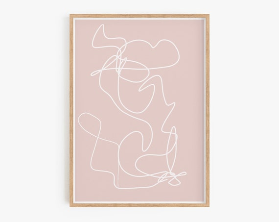 Pink Wall Art,Boho Wall Art,Boho Decor,Minimalist,Pink,Abstract wall art,Contemporary art,Boho wall art, Shapes Wall Art,Pink Decor,Prints