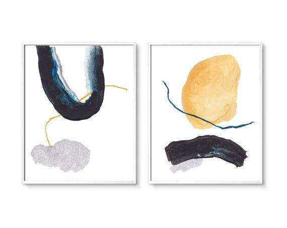 Set of 2 minimalist prints, Set of 2 prints, Set of 2 Wall Art, Set of 2, Abstract Art,wall Art, Blue Beige Print, Set of 2 Abstract Prints,
