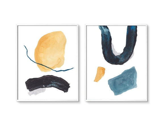 Set of 2 blue beige  prints, Set of 2 prints, Set of 2 Wall Art, Set of 2, Abstract Art, Minimalist Prints, Set of 2 Abstract Prints, Prints